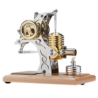 Single-cylinder Assembled Movable Metal Mechanical Engine Model